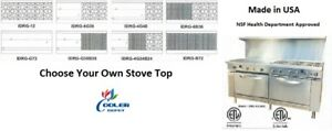 New 72 Double Oven Range Stove Top Griddle Broiler Hot Plate Nsf Usa Made