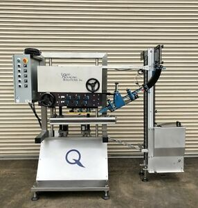 Liquid Packaging Solutions 6 Quill Inline Bottle Capper With Ss Elevator Sorter