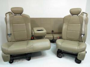 Ford F150 Seats F 150 Seat Set Custom Integrated Seat Belt Leather Bench 60 40