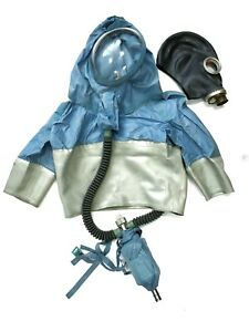 Russian Rare Hazmat Rubber Suit Insulating Protective Suit New With Gasmask