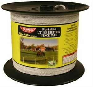 Baygard 00680 656 White High Visibility Electric Fence Tape no 680 Baygard
