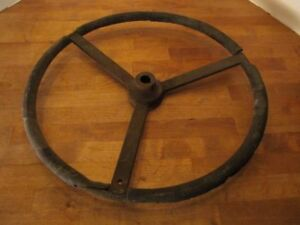 John Deere Early Tractor Steering Wheel Original 17