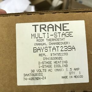 Trane Baystat239a Heat Pump Thermostat Oem New In Box Baystat239