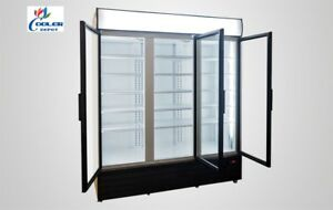Commercial 3 Glass Door Merchandiser Upright Refrigerator Display Cooler