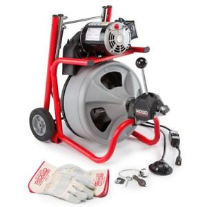 Ridgid 27008 K 400af Drum Machine With 3 8 Inch Solid Core Cable wh