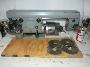 Avia polish Dividing Head With Plates Tailstock Excellent deckel Style