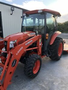 2017 Kubota Tractor L3560 Hstc W loader Cutter low Hours Mint Condition