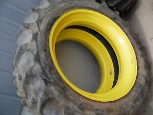 John Deere A Gas Farm Tractor Rear Tires Rims 13 6 X 38 no Fluid