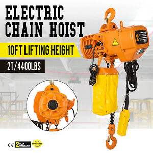 4400lb Electric Chain Hoist 10 Lift Height Factories 3phases 220v