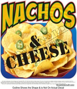 Nachos Cheese chips peppers photo Concession Trailer Food Truck Sign Decal