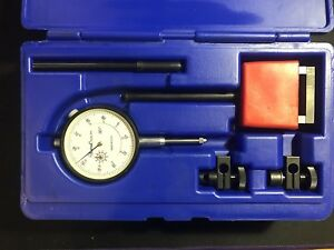 Central Tools 6410 Dial Indicator Set With Magnetic Base 1 00 0 100mm Range