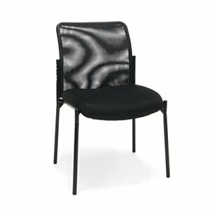 Essentials Mesh Upholstered Stacking Armless Guest reception Chair Modern