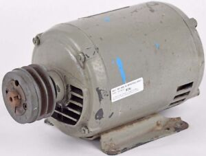 Us Motors 2hp 1735rpm 3 phase 230 460 V Electric Ac Motor W dual groove V Pulley