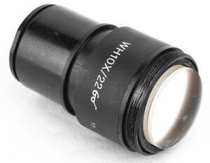 Olympus Wh10x 22 Laboratory Microscope Eyepiece Ocular Lens Attachment As is