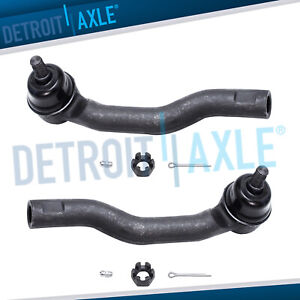 Both 2 Front Outer Tie Rods 2007 2008 2009 2010 2011 2012 2013 2014 Ford Edge