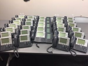 Cisco Phone System 30 Phones Plus Router Great Shape