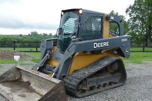 2011 John Deere 333d Track Loader 1400 Hours Pre emissions Loaded A c