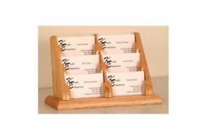 Six compartment Business Card Holder In Oakes id 373583
