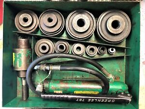 Greenlee 7310 Ram And Hand Pump Hydraulic Driver Kit 10 conduit Sized Punches