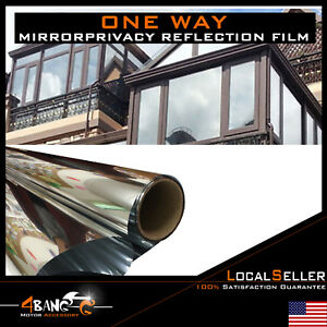 One Way Mirror Window Film Tint Reflection Extra Home Office Glass 90 X 60