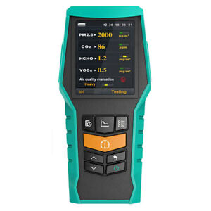 Bramc 5 in 1 Air Quality Monitor Pm2 5 Pm10 Formaldehyde Hcho Voc Co2 Detector
