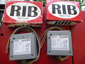 Lot Of 2 Rib02p Relays Functional Devices 20a Dpdt 208 277 Vac Coil New Rib