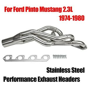 Pro Four 4 For Ford Pinto Mustang 2 3l Performance Stainless Exhaust Headers