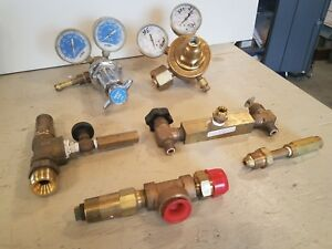 Regulators Valves Lot L tec Inert Gas Victor Equipment Reco Union Carbide