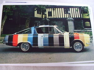 1965 Plymouth Barracuda Piant Chip Color Car 11 X 17 Photo Picture