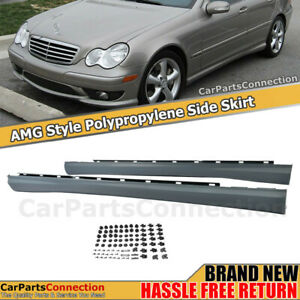 For Mercedes Benz W203 C Class Amg Side Skirts Set For C240 C320 C32 C230 Sedan