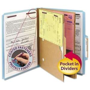 Smead Pressboard Folders With Two Pocket Dividers Letter Six s 086486140812