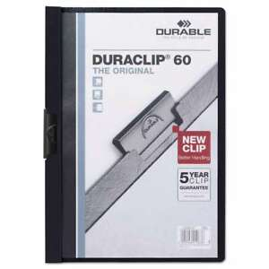 Durable Vinyl Duraclip Report Cover W clip Letter Holds 60 Pag 616528230203