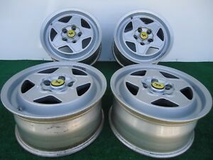Set Of 4 Classic Ferrari Mondial 180 Tr 390 Factory Wheels Rims