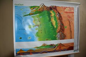 Nystrom Pull Down Geo Chart Map School Classroom Map 1gt