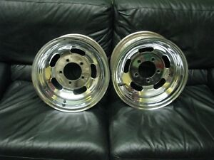 15x8 Astro Chrome Slot Wheels Early Ford 5 On 5 1 2 Bp