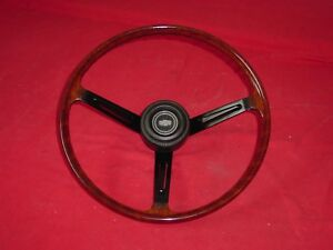 Vintage Datsun Jdm Bluebird 510 Sss Wood Steering Wheel Hakosuka Very Nice
