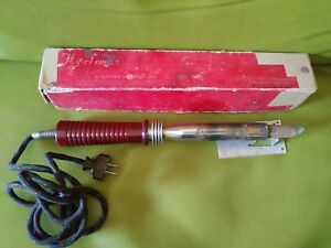 Vintage Hy Temp Electric Soldering Iron In Box 200 Watts W Solder 1940 s