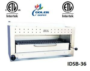 New 36 Commercial Gas propane Salamander Broiler Made In Usa Certified Nsf