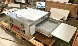New Electric Conveyor 18 Pizza Hot Wing Oven Bakery Pizzeria Stainless 220v