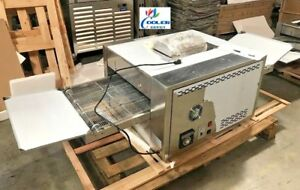 New Natural Gas Conveyor 18 Pizza Hot Wing Oven Bakery Pizzeria Stainless 220v