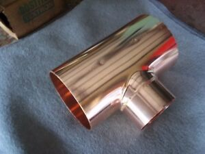 Nibco Copper Tee 6 x6 x4 Wrot Copper