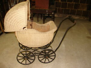 Antique Wicker Baby Carriage Children S Vehicle Corp East Templeton Mass