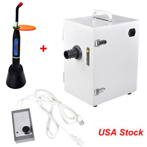 Dental Digital Single row Dust Collector Vacuum Cleaner Machine Lab curing Light