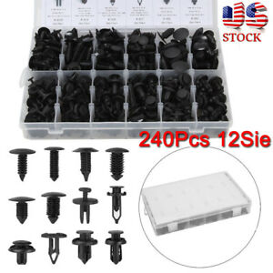 240pcs Car Body Fastener Push Pin Rivet Trim Clip Panel Moulding