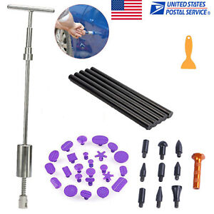 Auto Body Repair Tool Tap Down Hammer Tools Puller Tabs T Bar Slide Hammer
