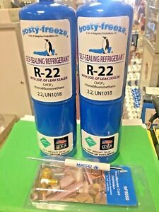 Refrigerant R22 R 22 Two 28 Oz Cans Pro Seal Xl4 Leak Stop Malco Tool New