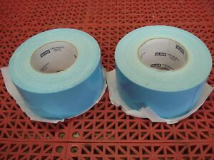 Lot Of 2 Uline Double Sided Carpet Tape Blue 3 X 36yd S 14669 Duct Tape New