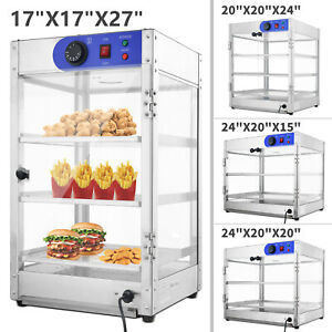 4 Size Commercial 2 3 tier Counter Top Food Pizza Warmer Display Cabinet Case