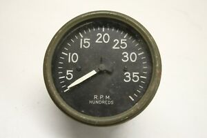 Original 1940 s 1950 s Truck Jeep Tachometer Gauge Military Green Bezel 3 3 4