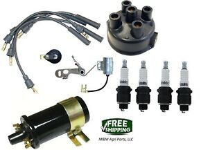 Complete Tune Up Kit 12v Coil Ferguson To20 To30 To35 F40 Mh50 Tractor